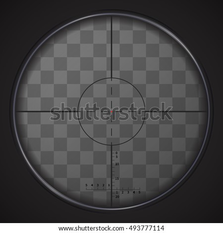 realistic sniper sight with
