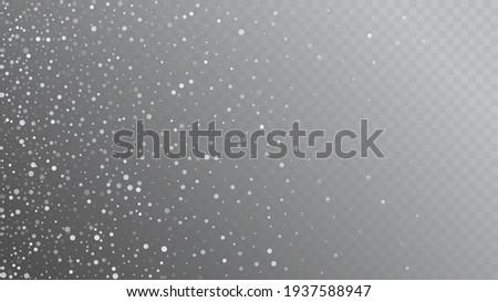 realistic snow  gray winter