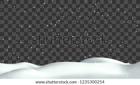 realistic snow hills landscape