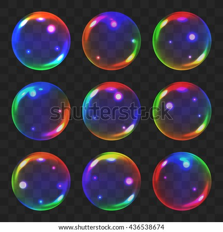 realistic soap bubble with