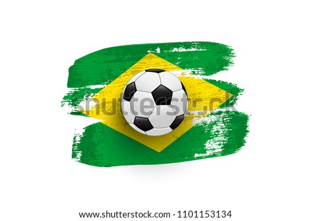 realistic soccer ball on flag