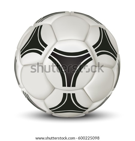realistic soccer ball or