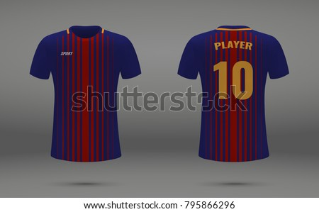 realistic soccer jersey  t