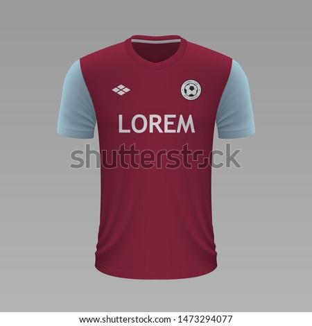 realistic soccer shirt aston