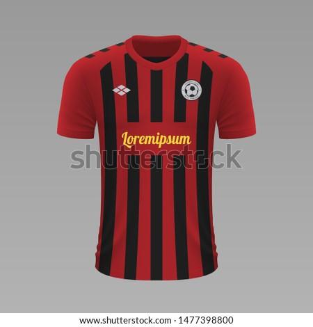 Realistic soccer shirt Freiburg 2020, jersey template for football kit. Vector illustration