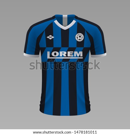 realistic soccer shirt inter