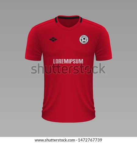 Realistic soccer shirt Manchester United 2020, jersey template for football kit. Vector illustration