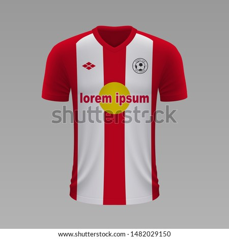 Realistic soccer shirt Red Bull Salzburg 2020, jersey template for football kit