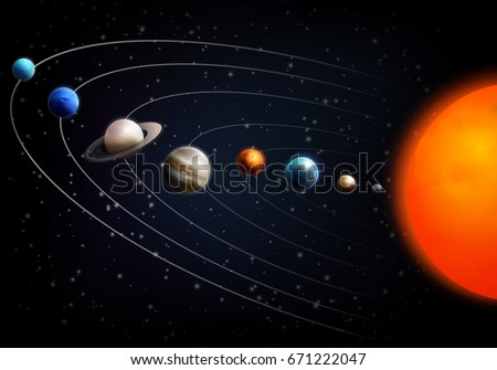 realistic space background with