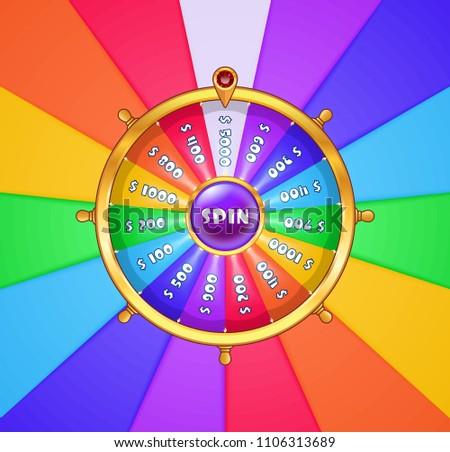 spinning wheel template vector download free vector art stock
