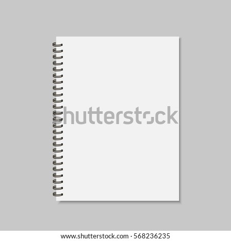 realistic spiral notepad blank...