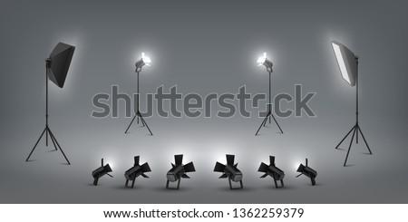 realistic spotlight studio
