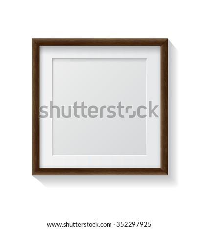 realistic square dark wood