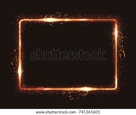 realistic square light fire