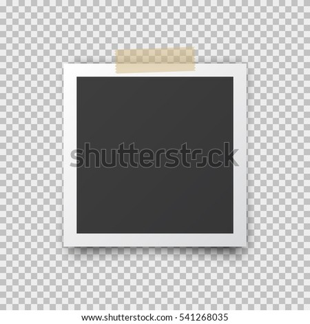 realistic square photo frame