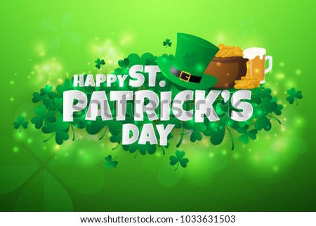 Realistic St. Patrick's day background and banner. illustration