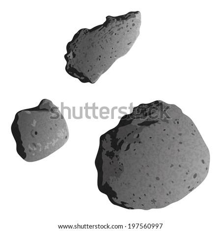 realistic stone asteroids