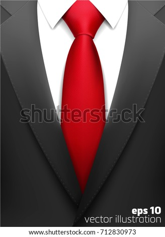 realistic suit with tie