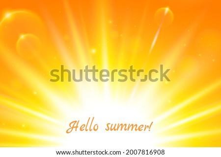 realistic sun and sunbeams on