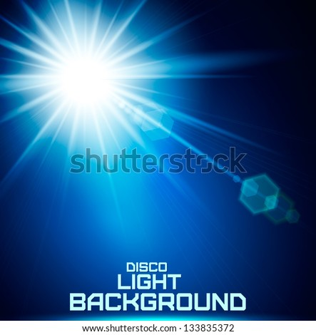 realistic sun burst with flare