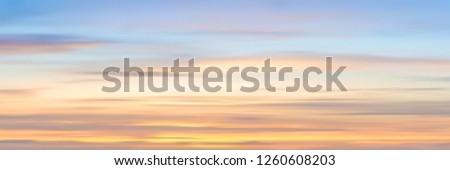 realistic sunset sky  panoramic