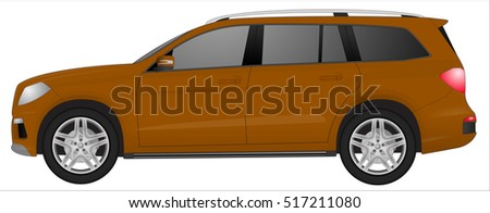 realistic suv car isolated on