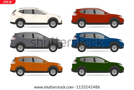 Suv vector download free vector art stock graphics images realistic suv car vector model all elements car in groups on separate layers the malvernweather Choice Image