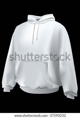 Realistic sweatshirt  or hoodie with front pocket.Mesh used.