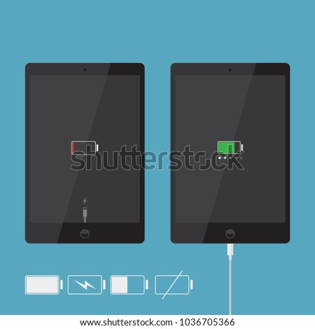 realistic tablet icons
