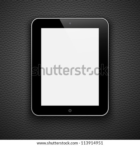 Realistic tablet pc computer isolated on a grey background. Eps10