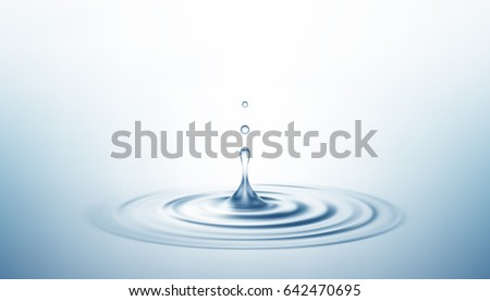 Realistic Transparent Drop and Circle Ripples Background. Vector illustration EPS10
