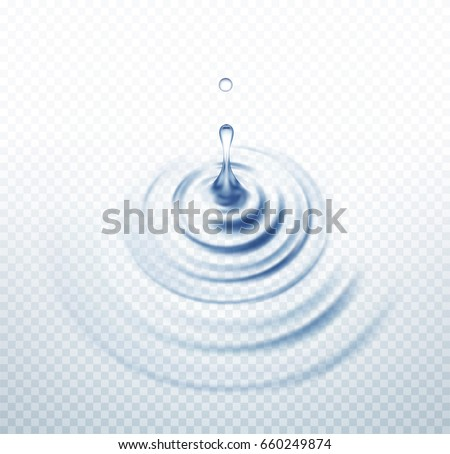 realistic transparent drop and