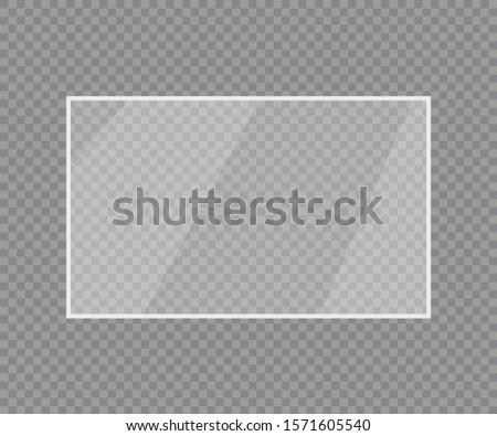 realistic transparent glass on a transparent background, vector illustration