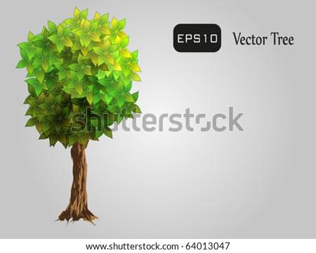 Realistic tree, isolated. Fully vector. Enjoy!