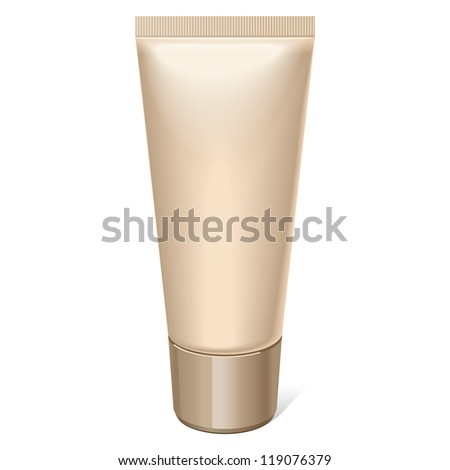 Realistic tube. For cosmetics, ointments, cream, tooth paste, glue Vector.elements - stock vector