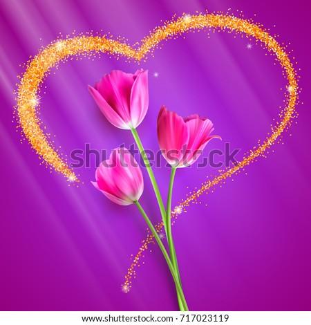 realistic tulip flowers