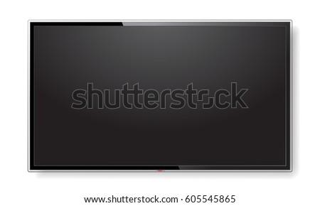 realistic tv screen modern