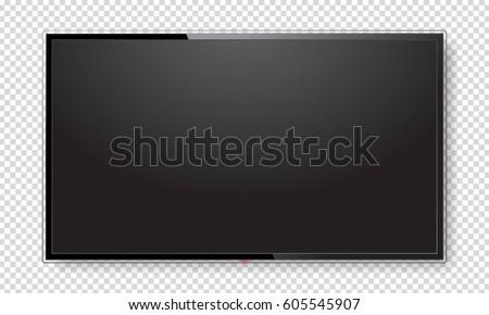 realistic tv screen. modern...