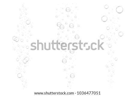 realistic underwater fizzing air bubbles isolated on white background sparkling water air bubbles in