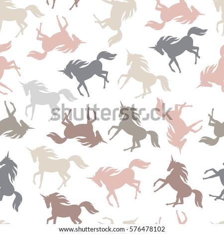 realistic unicorn silhouette
