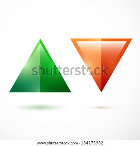 Realistic up and down arrows