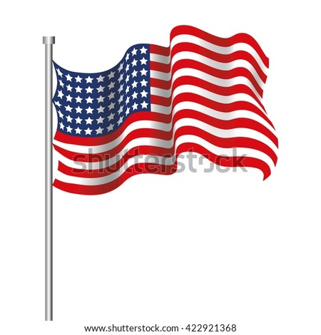 Realistic USA Flag