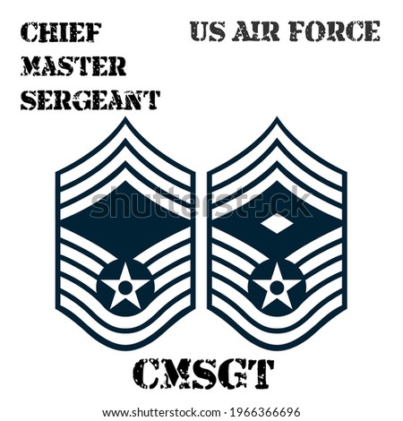 Realistic vector badge of the armband of the chevron of the Chief Master Sergeant of the US Air Force. ストックフォト ©