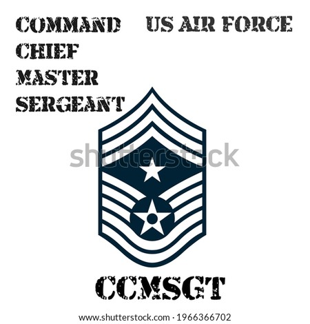 Realistic vector badge of the armband of the chevron of the Command Chief Master Sergeant of the US Air Force. ストックフォト ©
