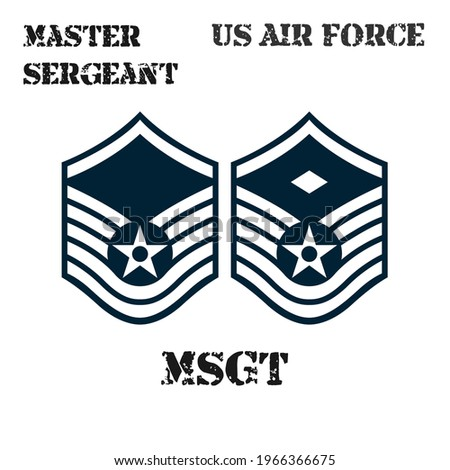 Realistic vector badge of the armband of the chevron of the Master Sergeant of the US Air Force. ストックフォト ©
