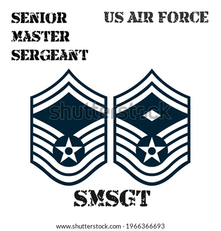 Realistic vector badge of the armband of the chevron of the Senior Master Sergeant of the US Air Force. ストックフォト ©
