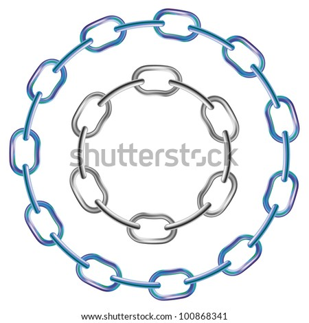 Realistic vector brilliant metal chains.