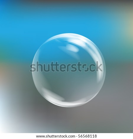 Realistic Vector Bubble Illustration Clip Art