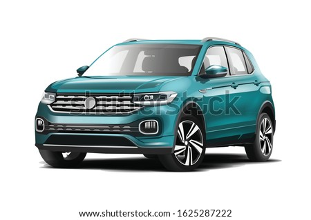 realistic vector  car  SUV with transparency