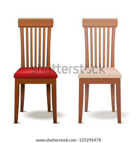 realistic vector chair isolated
